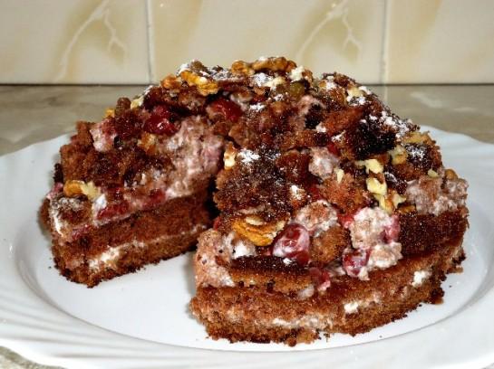 Рецепт торта с вишнями горка