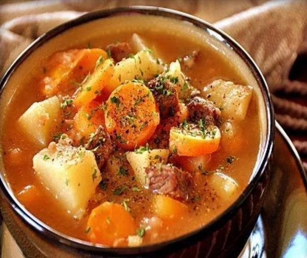 жаркое из говядины с грибами и картошкой рецепт с фото пошагово