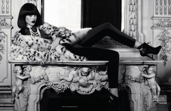 модная фотосессия Frida Gustavsson 7 (600x389, 161Kb)