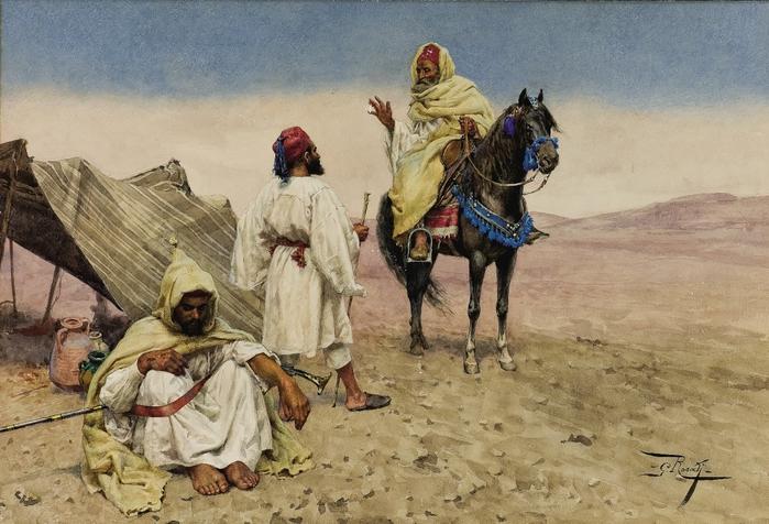 Giulio_Rosati_19Nomades du désert. (700x476, 279Kb)