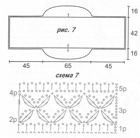 Шарф крючком из травки схемы и описание