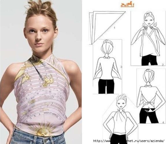 Как из платков сделать блузку