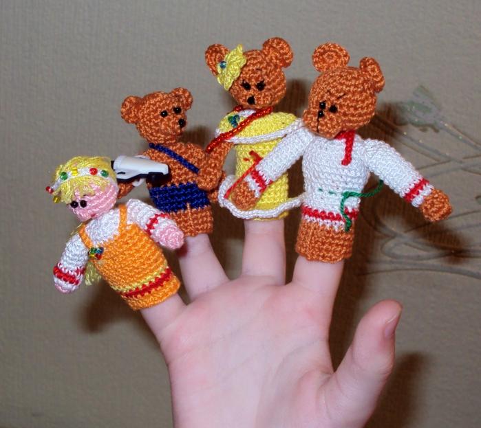 мишки по мере вязания.