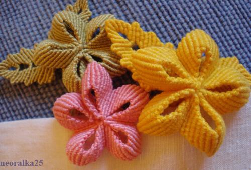 макраме схемы плетения цветов