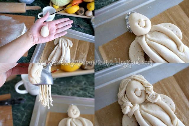 sztuka niepoważna masasolna kurs krok po kroku wielkanoc jak zrobic anioła aniołka DIY tutorial ozdoby na wielkanoc jak zrobić masę solną rękodzieło polskie salt dough.jpg (6) (640x426, 87Kb)