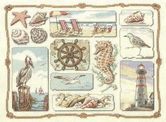 Вышивка морская