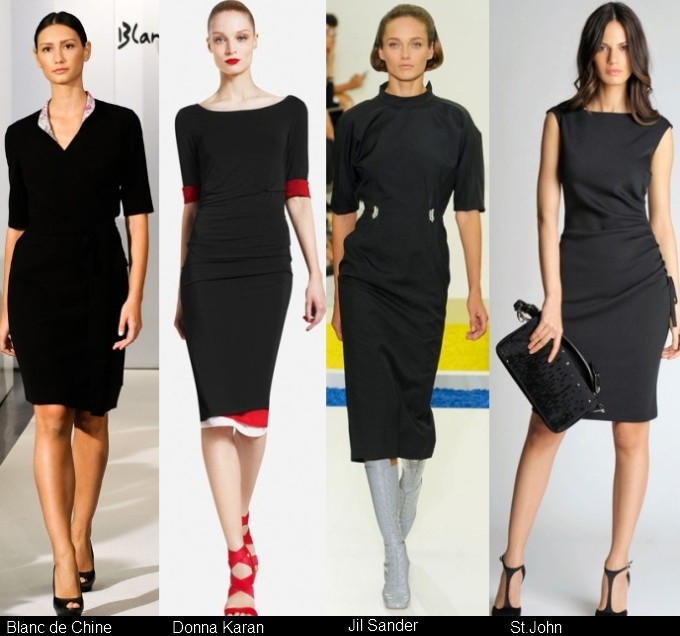 Маленькое черное платье модное