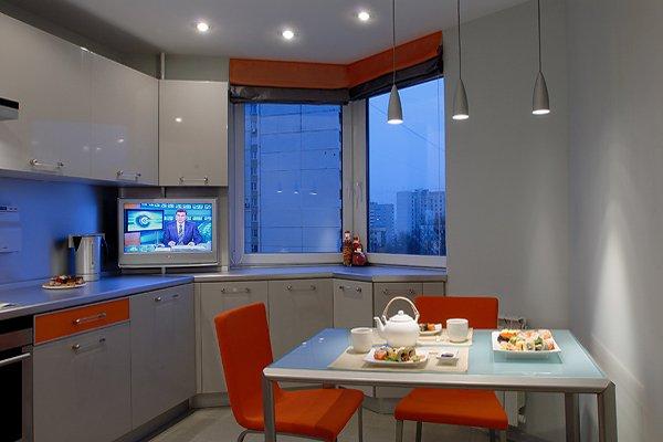 Кухни с эркером дизайн.