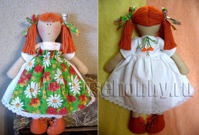 Куклы своими руками из материала