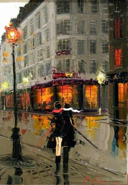 Городские фонари в живописи часть 1