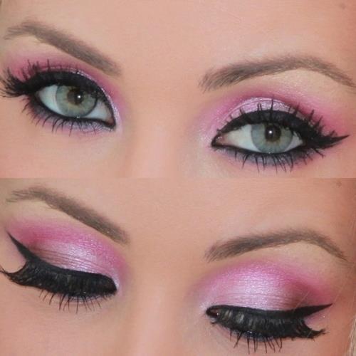 Pink eye makeup 2