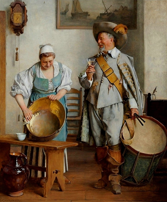 Eduard Charlemont (1848-1906).A Drink for the Drummer (580x700, 325Kb)