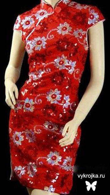 Выкройки китайских платьев в полный
