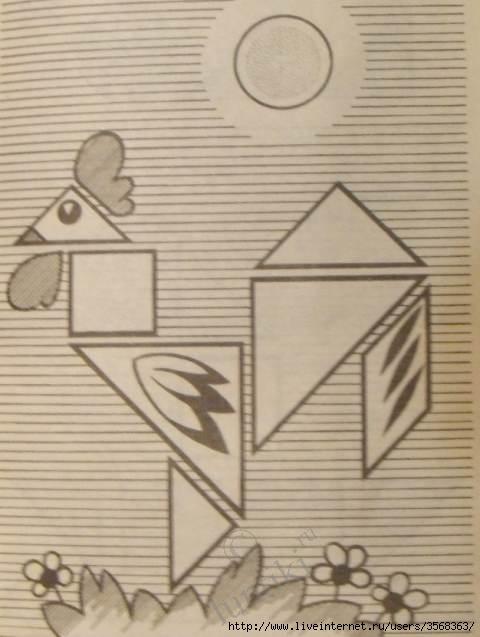 Аппликации для детей из геометрических фигур.