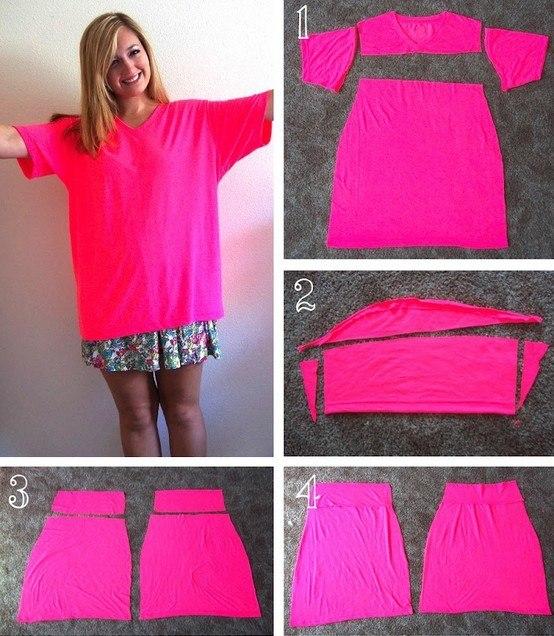 Переделки платье из футболки