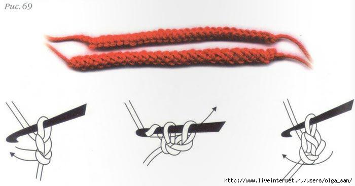 Вязание шнуров крючком для начинающих 78