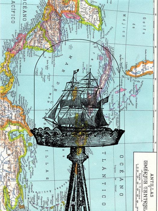 Рисунки на географических картах. 92752584_il_570xN313513877