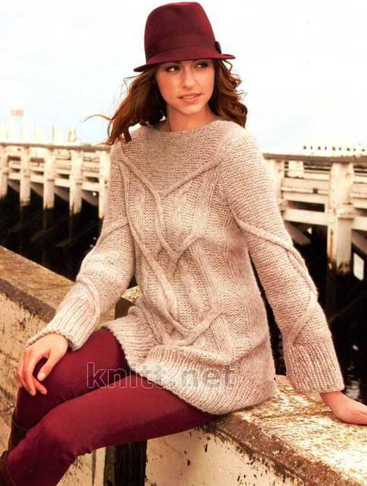 Вязаный свободный пуловер DIONNE с вырезом лодочка