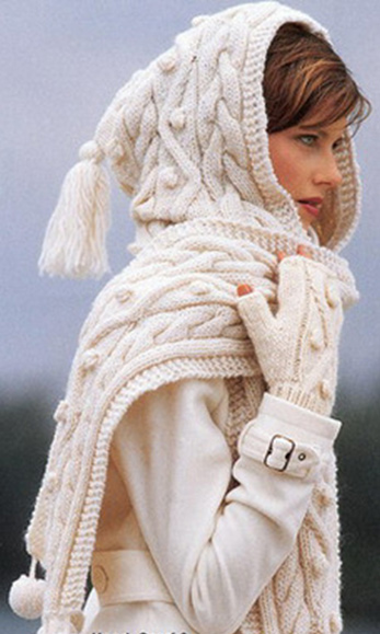 шарф шапка фото