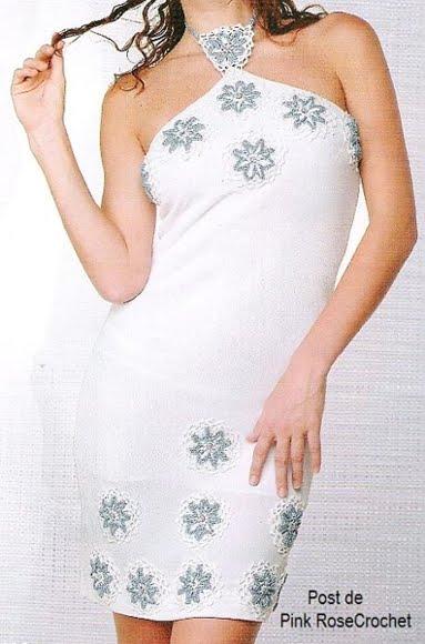 Vestido c Aplic Flores Croche  (383x580, 38Kb)
