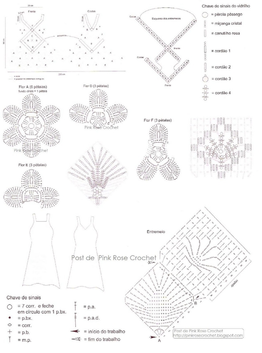 Vestido de Croche - Gr1 . PRose Crochet (518x700, 154Kb)