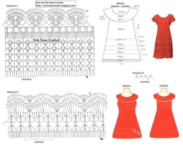 Vestido de Crochet - Gr2 - Pink Rose (700x559, 244Kb)