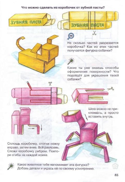 Что можно сделать из коробки зубной пасты