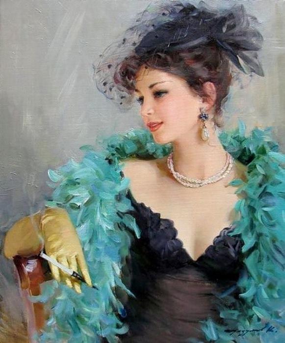женская красота в живописи