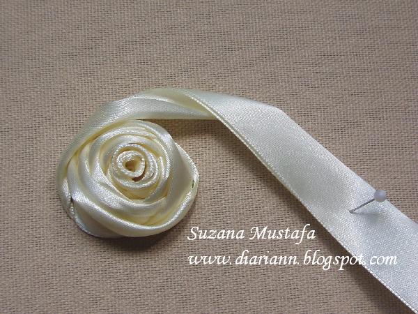 用彩带来做立体刺绣花:4 玫瑰花  (大师班) - maomao - 我随心动