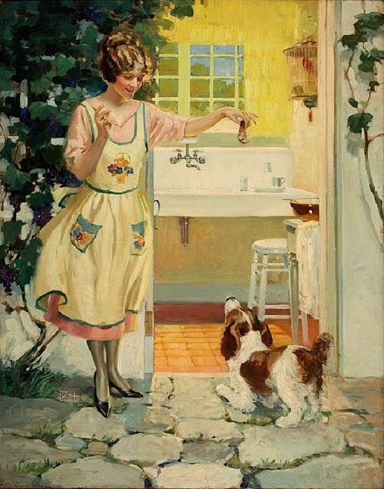 Andrew Loomis  -  A Snack for Fido (549x700, 319Kb)