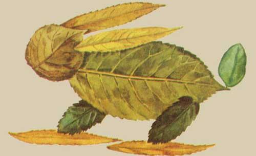 Мама для мам: Аппликации из осенних листьев и природного.