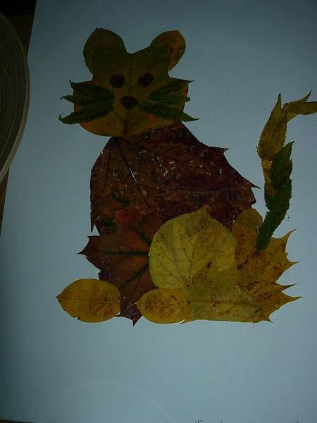 Поделки из листьев видео