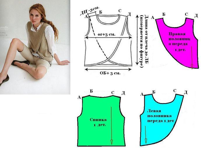 Как сшить модные безрукавки