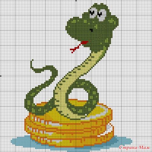 Выщитые овощи 2. Вышивка-новогодняя змейка.