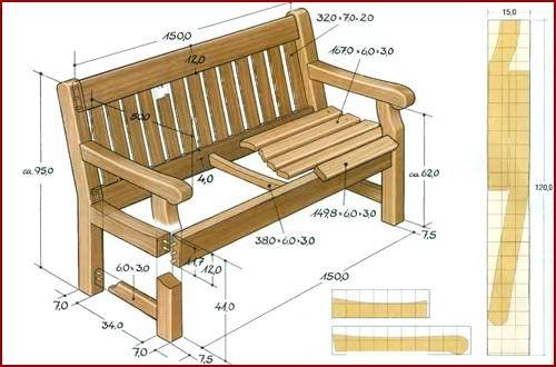 непосредственно на дерево (размер каждой клеточки 5х5 см) или же увеличить чертеж в 10 раз скамейка чертеж.