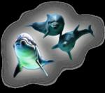 Превью дельфины на прозрачном слое (18) (267x239, 72Kb)