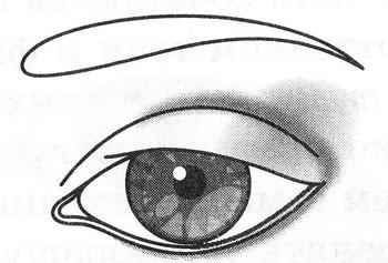 Макияж глаз складка века