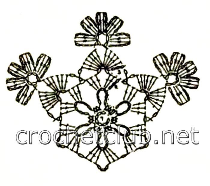 снежинка крючком-схема 4.