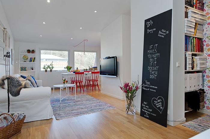 красивый дизайн для маленькой квартиры фото (700x465, 253Kb)