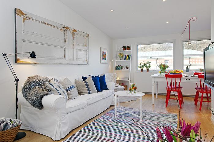 красивый дизайн для маленькой квартиры фото 2 (700x465, 268Kb)