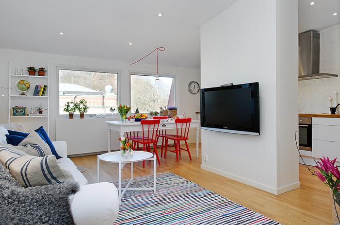 красивый дизайн для маленькой квартиры фото 4 (700x463, 230Kb)