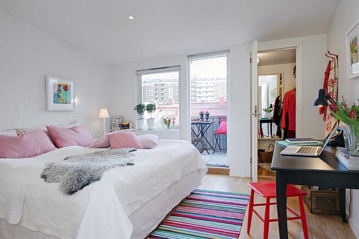 красивый дизайн для маленькой квартиры фото 7 (700x465, 232Kb)
