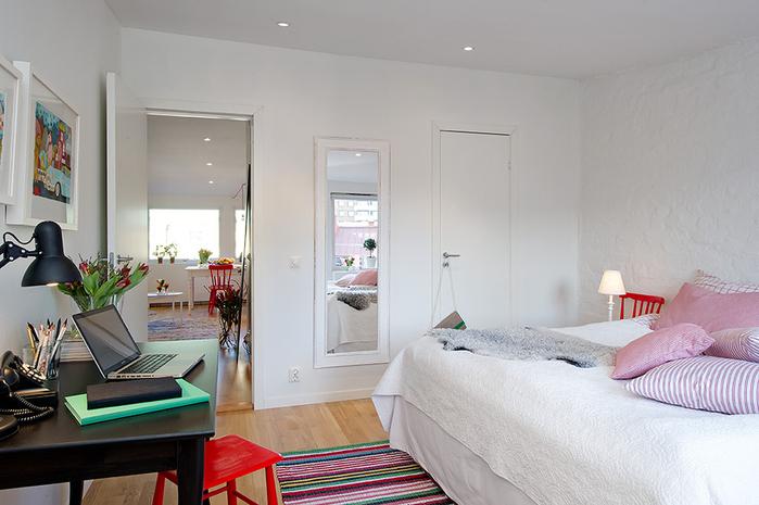 красивый дизайн для маленькой квартиры фото 9 (700x465, 201Kb)