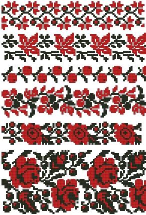 украинская вышивка схемы