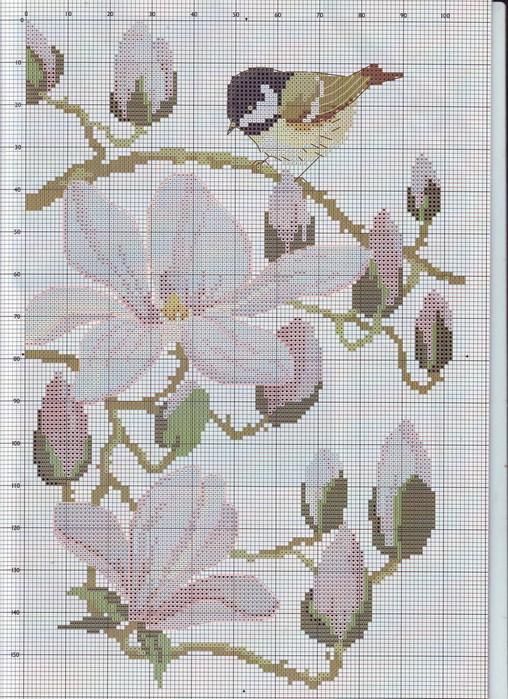 Часть 10 - Нежные цветы. Схема