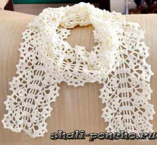 Начинают вязать шарф с цепочки