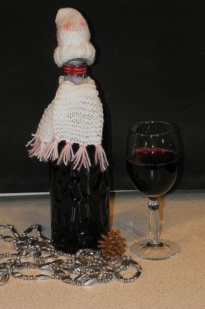 Шапка на бутылку шампанского своими руками 69