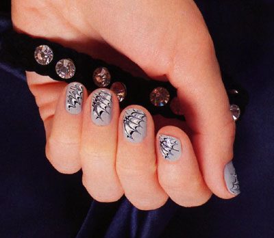 А вот еще рисунки на ногти
