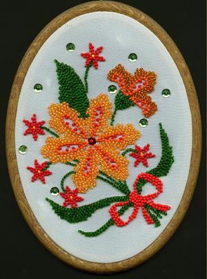 вышивкa бисером киев цветы