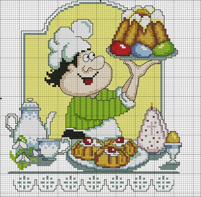Веселый повар вышивка схема 54
